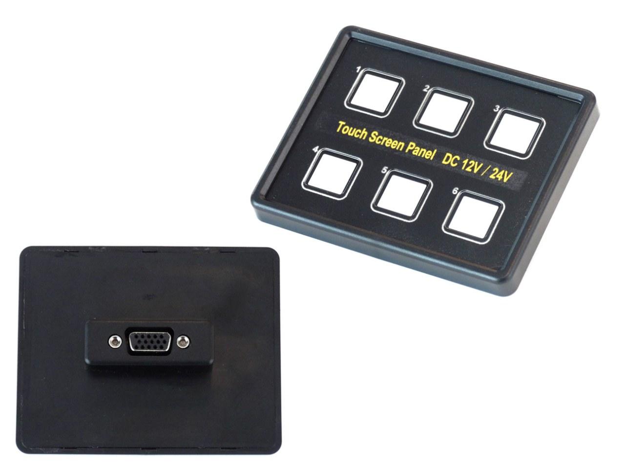 Panel przełączników dotykowy 1x15PIN VGA 12/24V - GRUBYGARAGE - Sklep Tuningowy